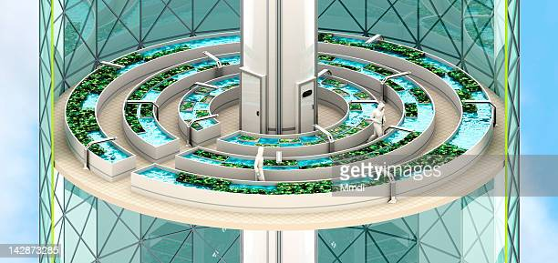 verticalfarm_aquaponiclevel - growth stock illustrations