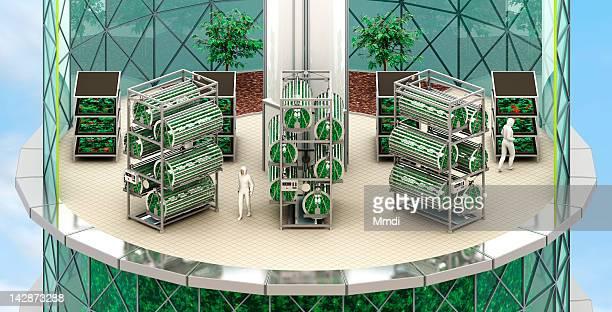 verticalfarm_hydroponiclevel - human representation stock illustrations