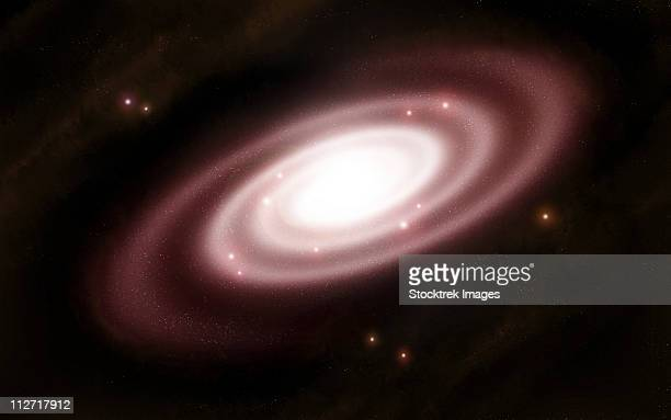ilustraciones, imágenes clip art, dibujos animados e iconos de stock de a very old spiral galaxy. - galaxiaespiral