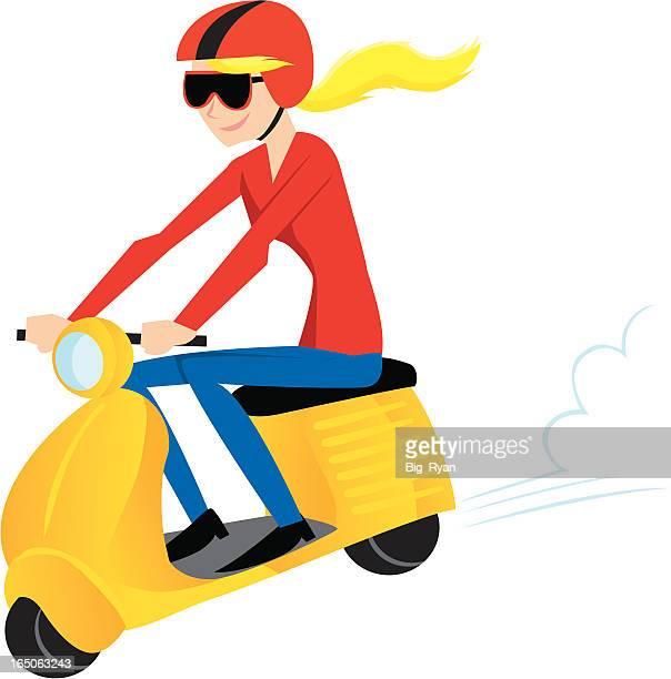 vespa racer - vespa stock illustrations, clip art, cartoons, & icons