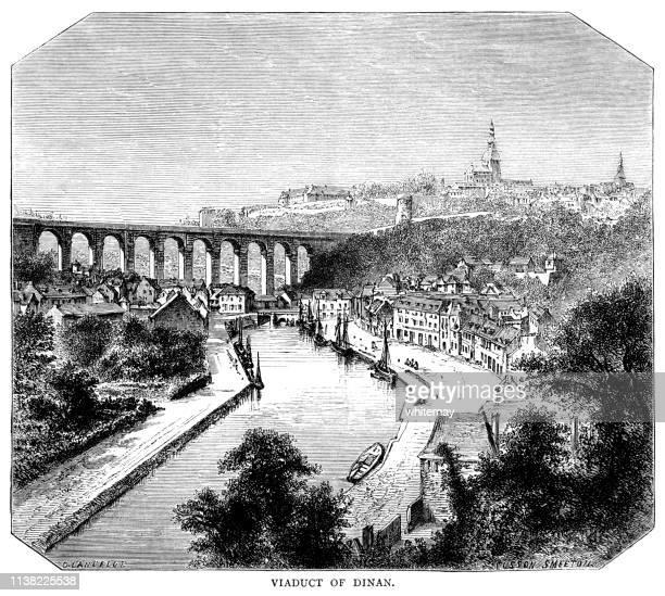 ディナンの高架橋、フランス - 北ヨーロッパ点のイラスト素材/クリップアート素材/マンガ素材/アイコン素材
