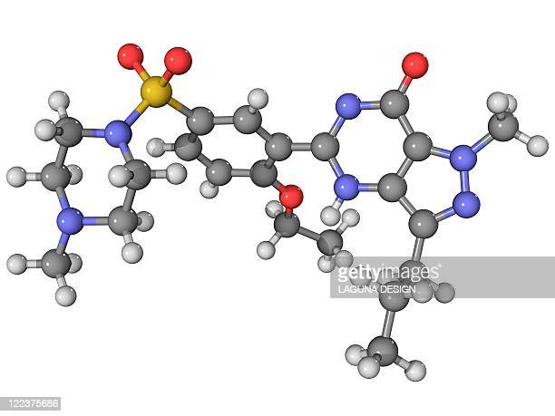viagra drug molecule - viagra stock illustrations