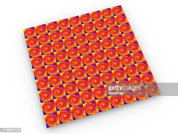 vibrant lsd blotter repeating pattern, 3d rendering - lsd stock illustrations