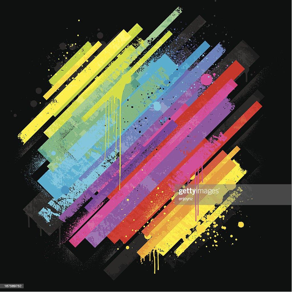 Vibrant rainbow background : stock vector