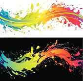 Vibrant rainbow splash backgrounds