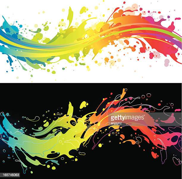 Vibrant rainbow splash backgrounds