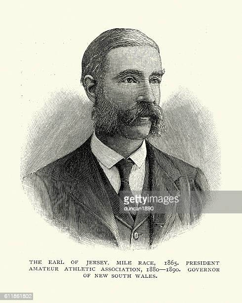 victor child villiers, 7th earl of jersey - governor stock illustrations, clip art, cartoons, & icons