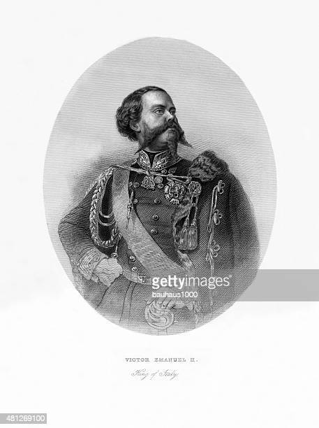 Victor Emmanuel II Victorian Engraving