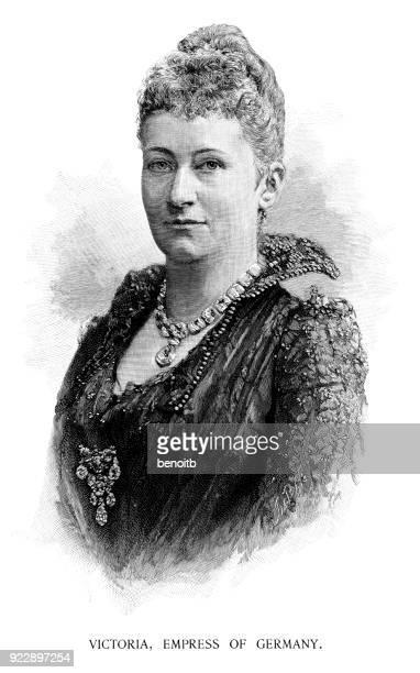 victoria, empress of germany - empress stock illustrations, clip art, cartoons, & icons