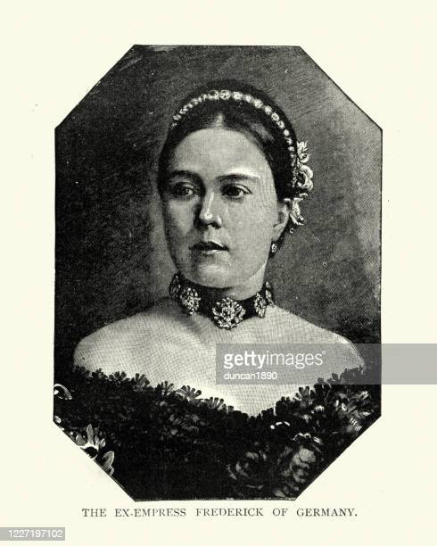 victoria, princess royal, empress of germany - british royalty stock illustrations