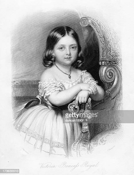 victoria princess royal - one girl only stock illustrations, clip art, cartoons, & icons