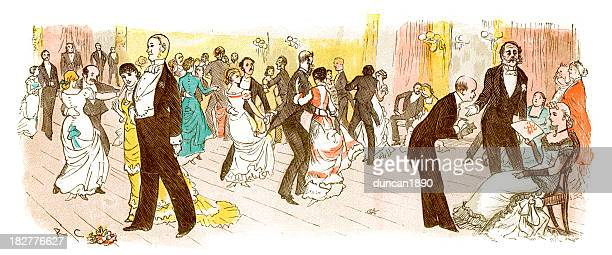 stockillustraties, clipart, cartoons en iconen met victorian ball - gewalt