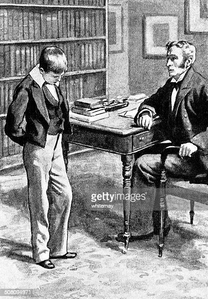 Victorian boy being scolded