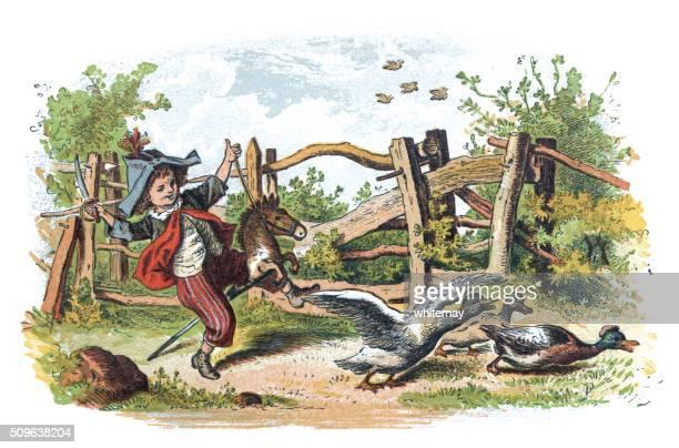 Vitoriano Menino andar a Cavalo Balouçante