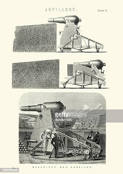 Victorian British Artillery Moncrieff gun carriage