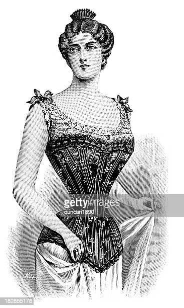 victorian corset - en búsqueda stock illustrations