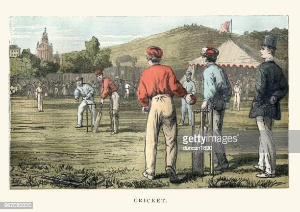 Victorian cricket match, 19th Century