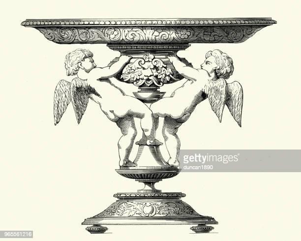 Decoración victoriana, Cupido Tazza, década de 1850
