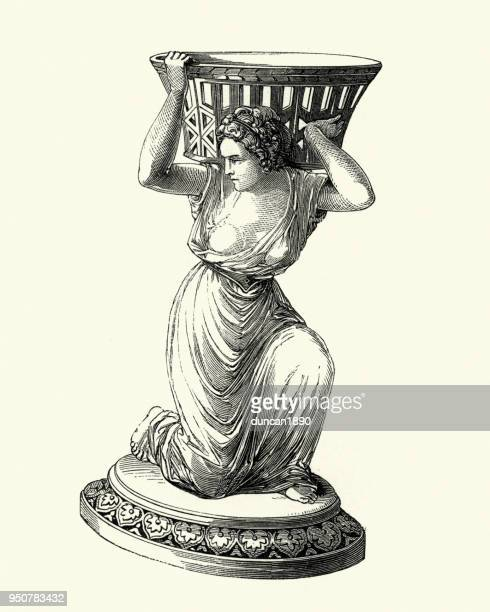 Victorian decor, Statue of awoman holding a basket