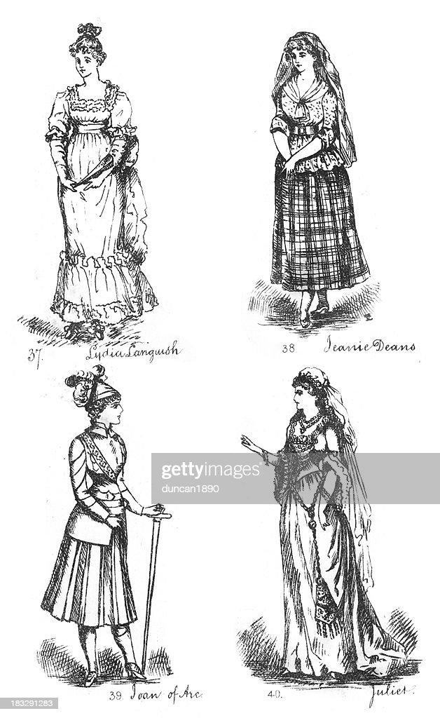 Victorian Fancy Dress Costumes : stock illustration