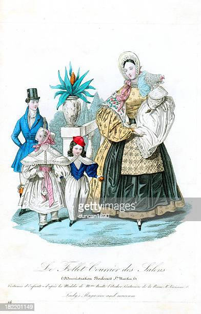 Victorian Fashion Mother and Children