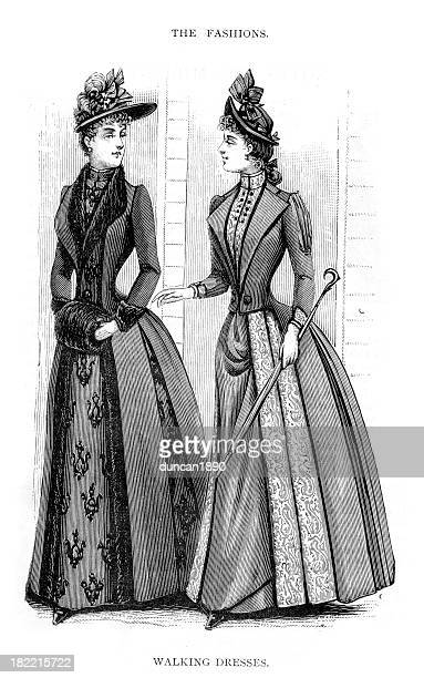 Victorian Fashion Walking Dresses 19th Century