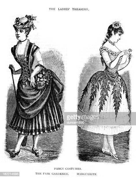 Victorian Fashion Young Woman 19th Century