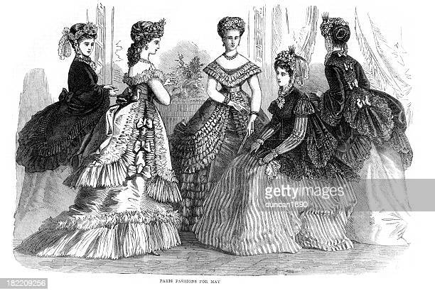 ビクトリアのファッション 19 世紀の若い女性 - 一張羅点のイラスト素材/クリップアート素材/マンガ素材/アイコン素材