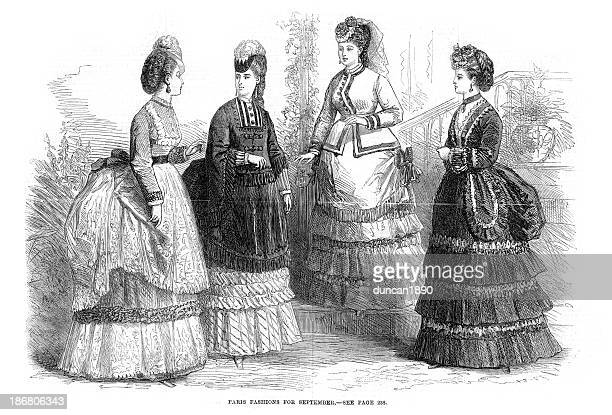 Victorian Fashion Young Women 19th Century