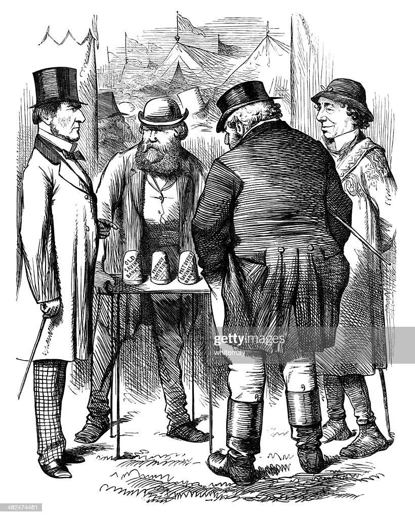 Victorian financial trickery : stock illustration