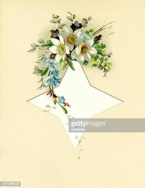 illustrations, cliparts, dessins animés et icônes de fleurs et étoiles de style victorien en spray - bottes bigarrées