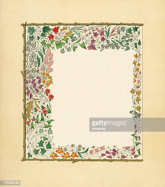 Victorian frame with autumn leaves