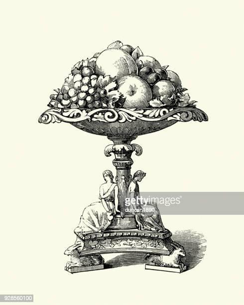 Victorian Fruit bowl, Imperial Dessert Service, 19th Century porcelain