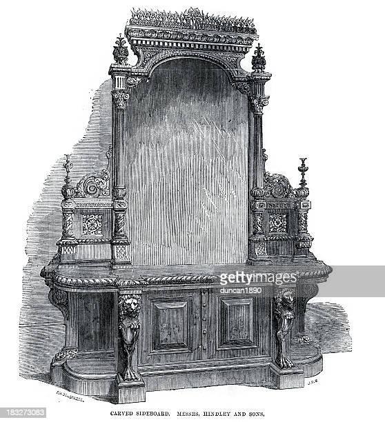 Victorian Furniture Carved Sideboard