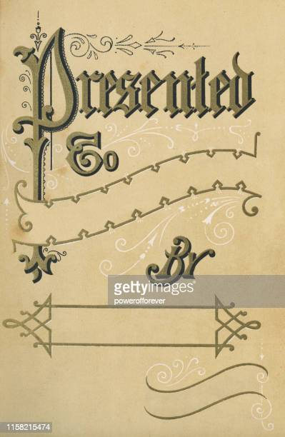 victorian gift tag - 19th century - gift tag note stock illustrations, clip art, cartoons, & icons