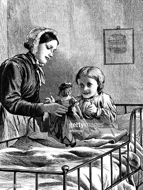 Victorian hospital with nurse and child patient