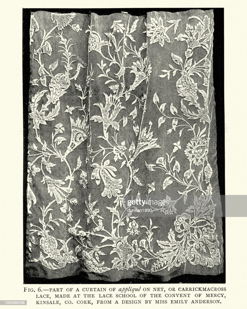 Victorian Irish Lace Curtain Pattern 19th Century High Res Vector Graphic Getty Images