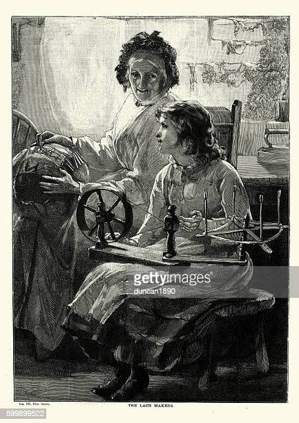 Victorian lace makers, 1894