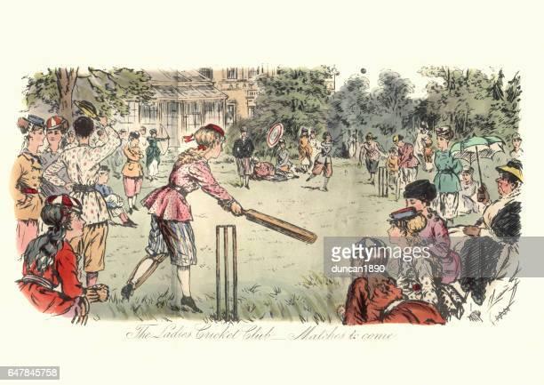 Victorian ladies cricket match, 1869