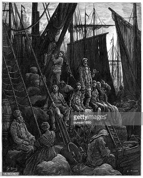 Victorian London - Fishermen off Billingsgate