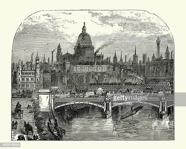 illustrazioni stock, clip art, cartoni animati e icone di tendenza di londra vittoriana - industrial revolution