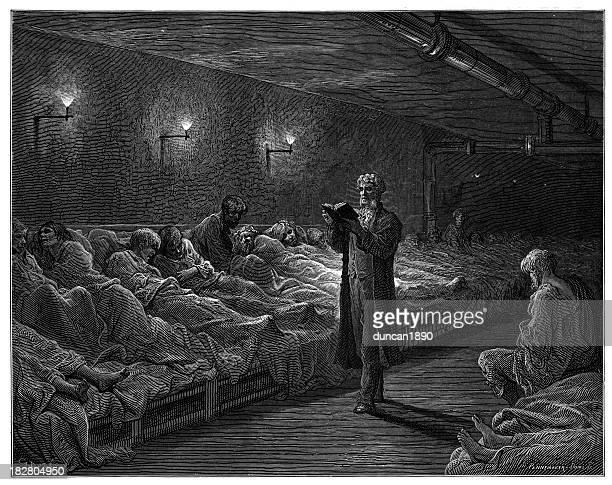 Victorian London - Scripture Reader in a Night Refuge