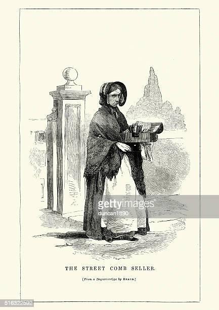 Victorian London - Street comb seller