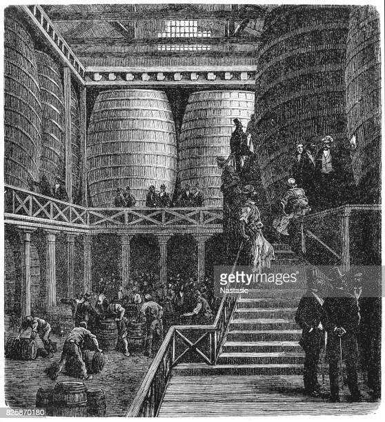 victorian london - the great vats - distillation stock illustrations, clip art, cartoons, & icons