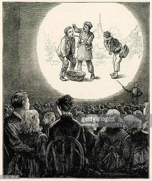 Victorian magic lantern show