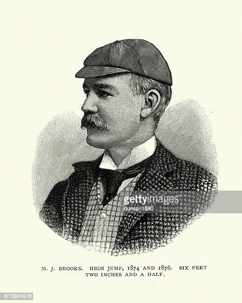 Victorian man, M L Brooks, High Jumper
