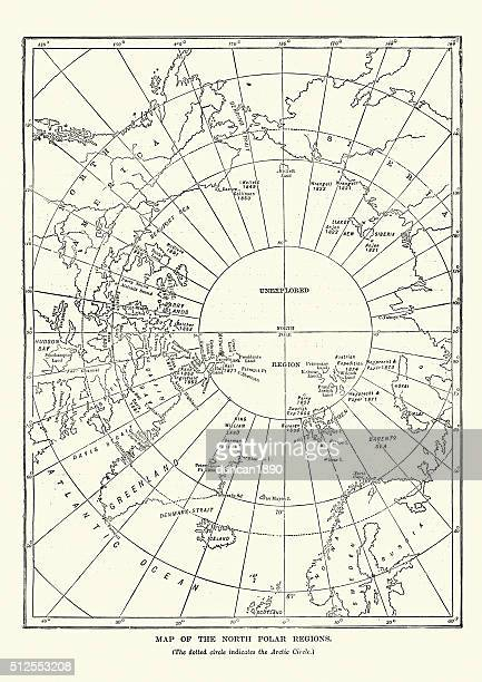 Victorian map of the North Polar Regions