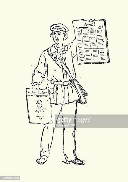Victorian Crieur de journaux, 1895
