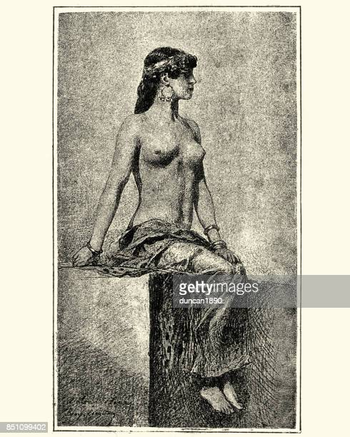 Victorian nude portrait of a young woman, 1880s
