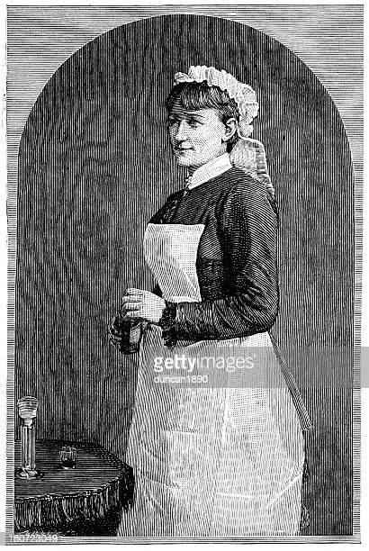 ilustraciones, imágenes clip art, dibujos animados e iconos de stock de victorian personal de enfermería - enfermera